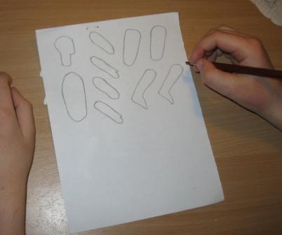 человечки из бумаги