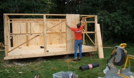 Строим деревянный домик