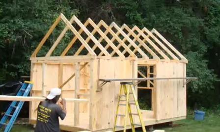 Деревянный домик цена