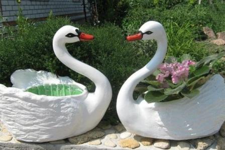 Лебедь кашпо