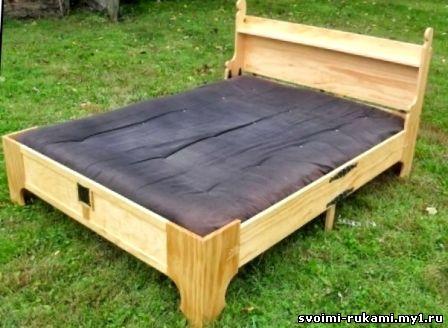 Кровать складная с матрасом своими руками