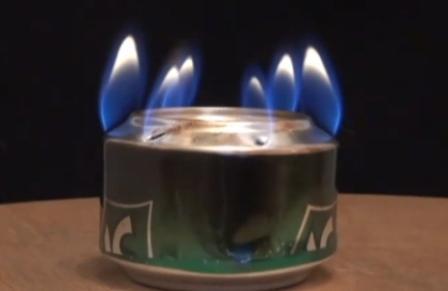 Как сделать сприртовую горелку