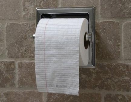 Туалетная бумага для записей