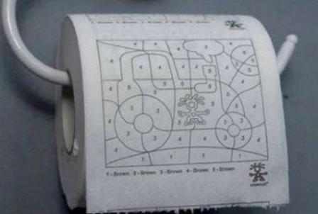 Туалетная бумага детская раскраска