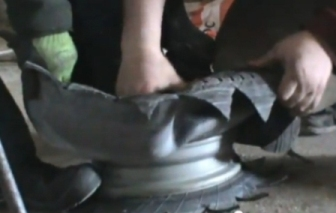 поделка ваза из покрышки