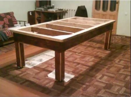 Перетяжка бильярдного стола