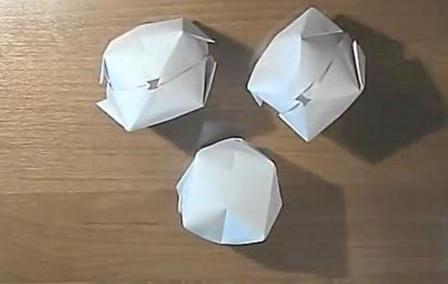 Надувные шарики из бумаги