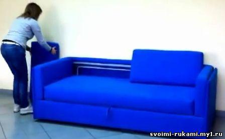 своими руками как сделать самому диван трансформер двухъярусный