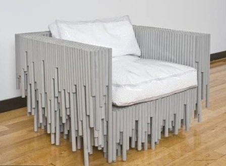 Кресло из пластиковых труб