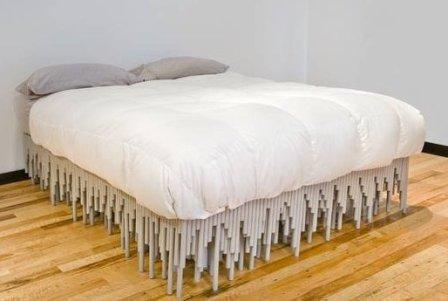 Кровать своими руками из пластиковых труб