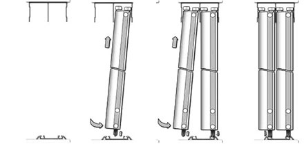 Установка дверей шкафа-купе