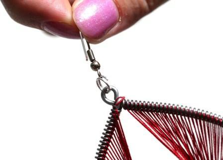 Серьги своими руками из ниток