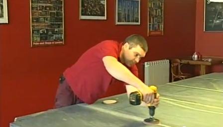 Шлифовка плит стола