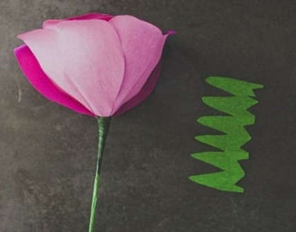 роза из бумаги фото