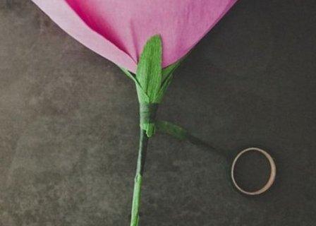 роза поделка из бумаги