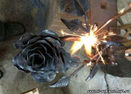 роза из металла своими руками