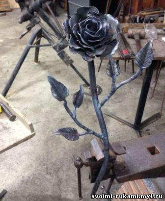 изготовление розы из металла