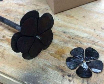 изготавливаем розу из металла