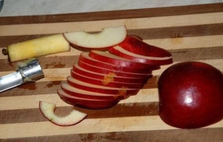 Как сделать розу из яблока