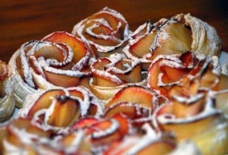 Как сделать розы из яблок