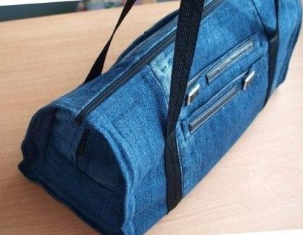Сшить сумку из джинсов