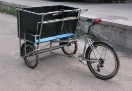 Велосипед велорикша своими руками фото 570