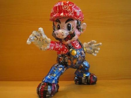 Марио из алюминиевых банок