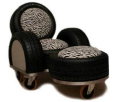 Мебель из автомобильных покрышек