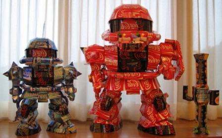 Роботы из алюминиевых банок