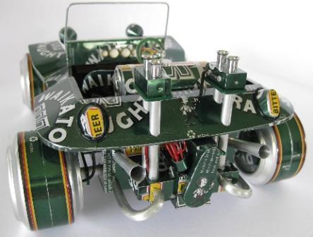 Модель багги из пивных банок