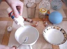 изготовление новогодних шаров