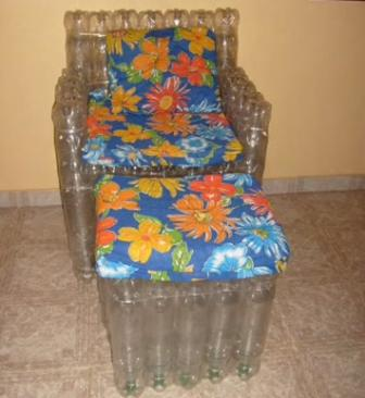мебель из пластиковых бутылок своими руками для кукол