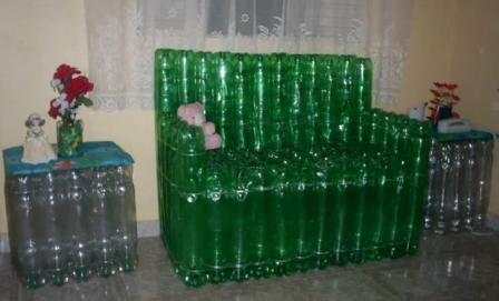 Мебель из бутылок пластиковых своими руками