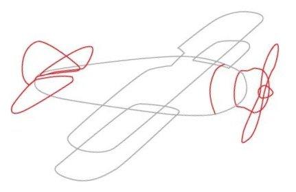 Учимся рисовать самолет
