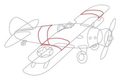 Фото как рисовать самолет поэтапно