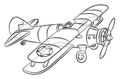 Как нарисовать самолет великой отечественной