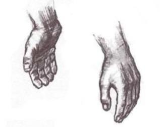 Как рисовать руки карандашом