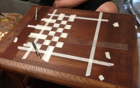 Самодельная шахматная доска