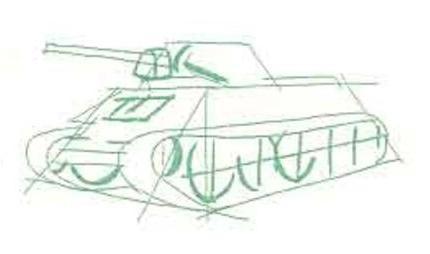 Как нарисовать танк своими руками