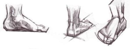 Учимся рисовать ноги