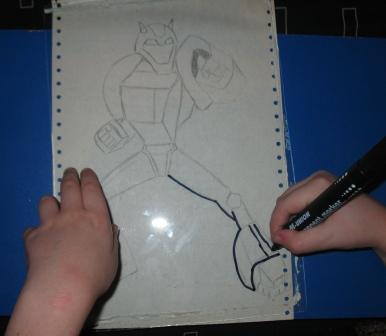 Рисунок пластилином