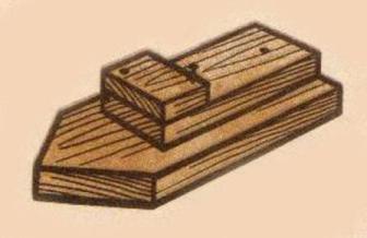 Кораблик из дерева своими руками