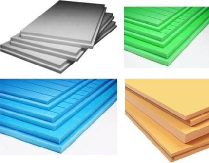 Производство экструдированного пенополистирола разных цветов