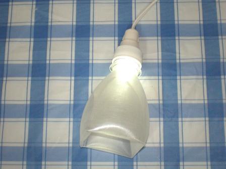 Светильник ночник из бутылки