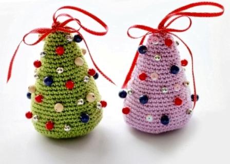 Вязаные елки новогодние